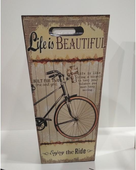Paragüero bicicleta beige