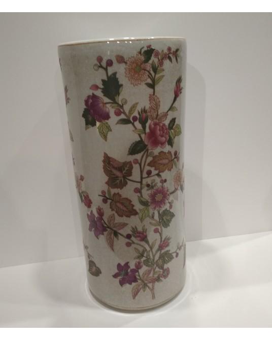 Paragüero cerámica flores