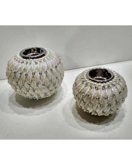Velon blanco perlas pequeño