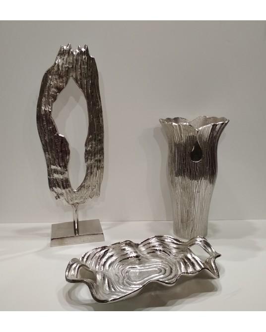 Jarrón metal oval