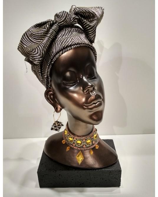 Figura Busto Africana