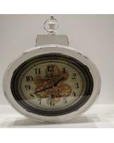 Reloj pared ovalado